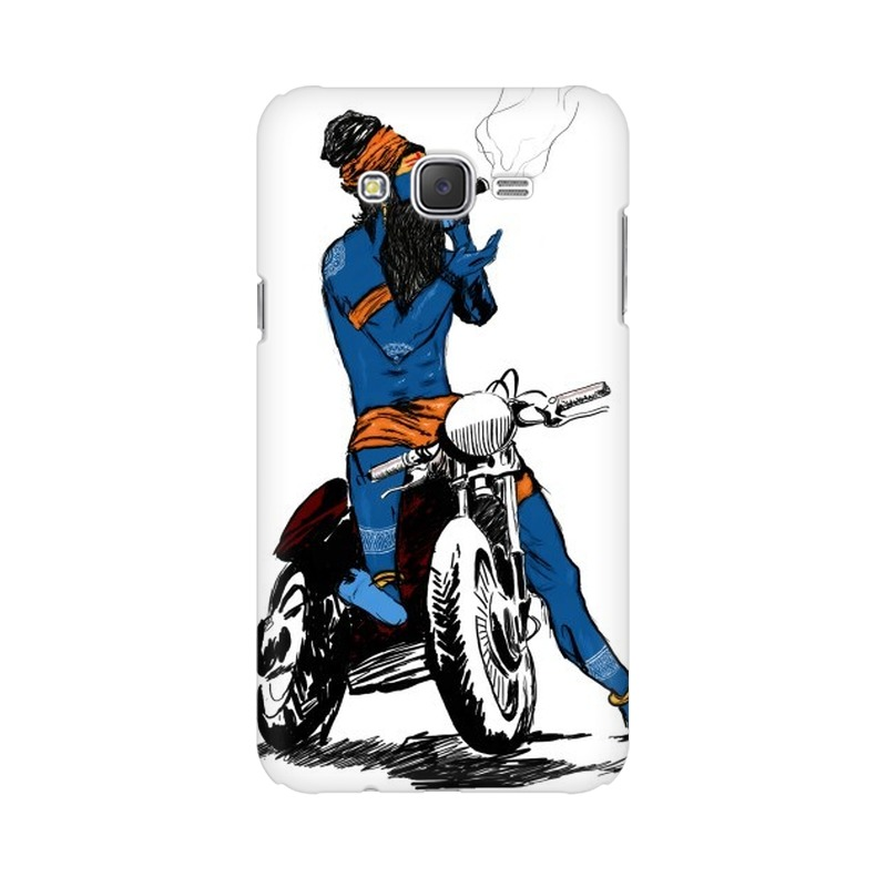 Biker Shiva Samsung Galaxy J2 (2017) Mobile Cover Case