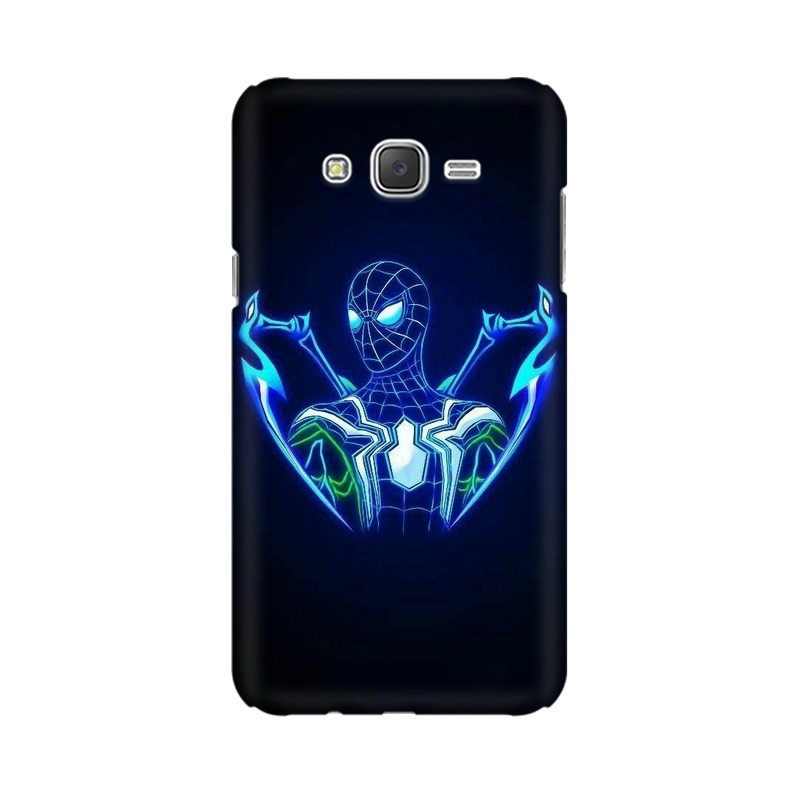 Black Spiderman Samsung Galaxy J2 (2017) Mobile Cover Case