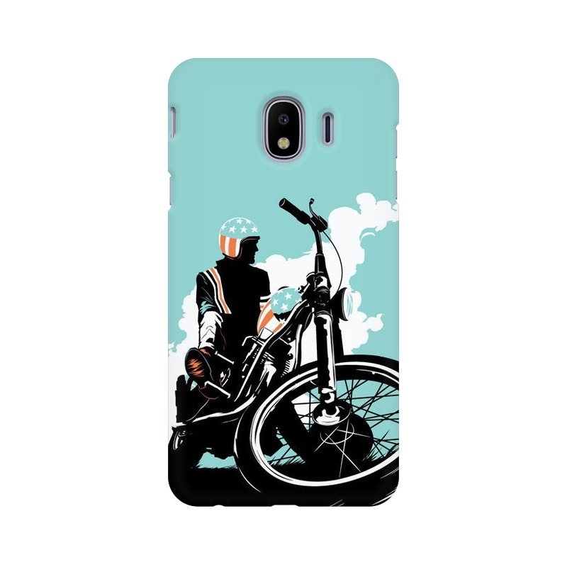 American Biker Samsung Galaxy J4 Mobile Cover Case