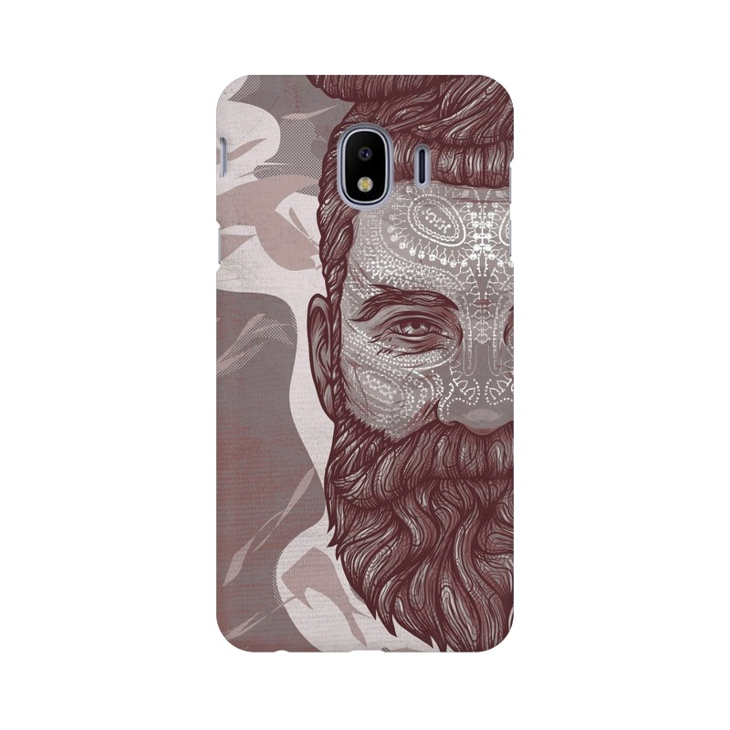 Beardo Man Samsung Galaxy J4 Mobile Cover Case