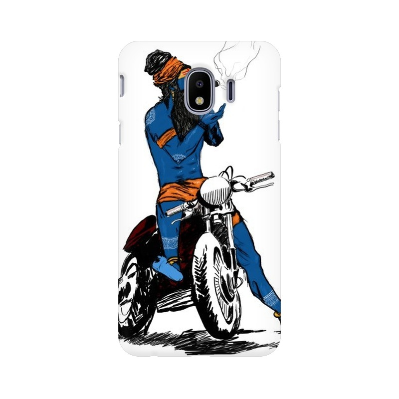 Biker Shiva Samsung Galaxy J4 Mobile Cover Case