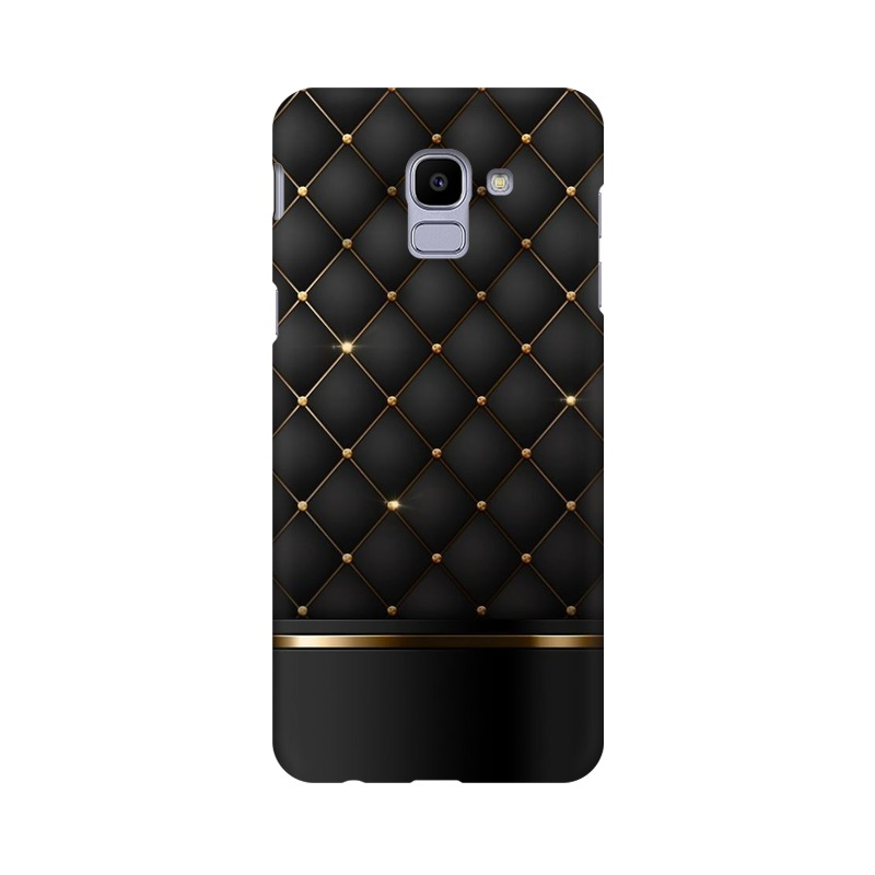 Black Gold Shine Texture Samsung Galaxy J6 Mobile Cover Case