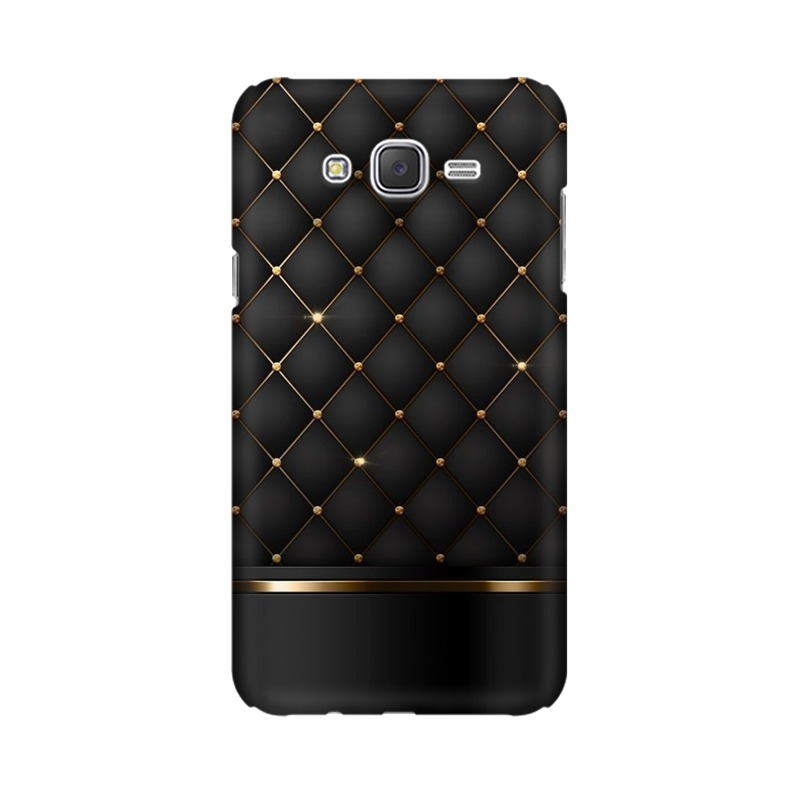 Black Gold Shine Texture Samsung Galaxy J7 Mobile Cover Case