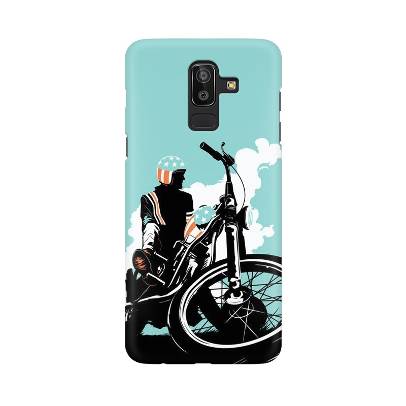 American Biker Samsung Galaxy J8 Mobile Cover Case