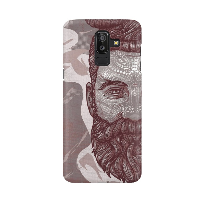 Beardo Man Samsung Galaxy J8 Mobile Cover Case