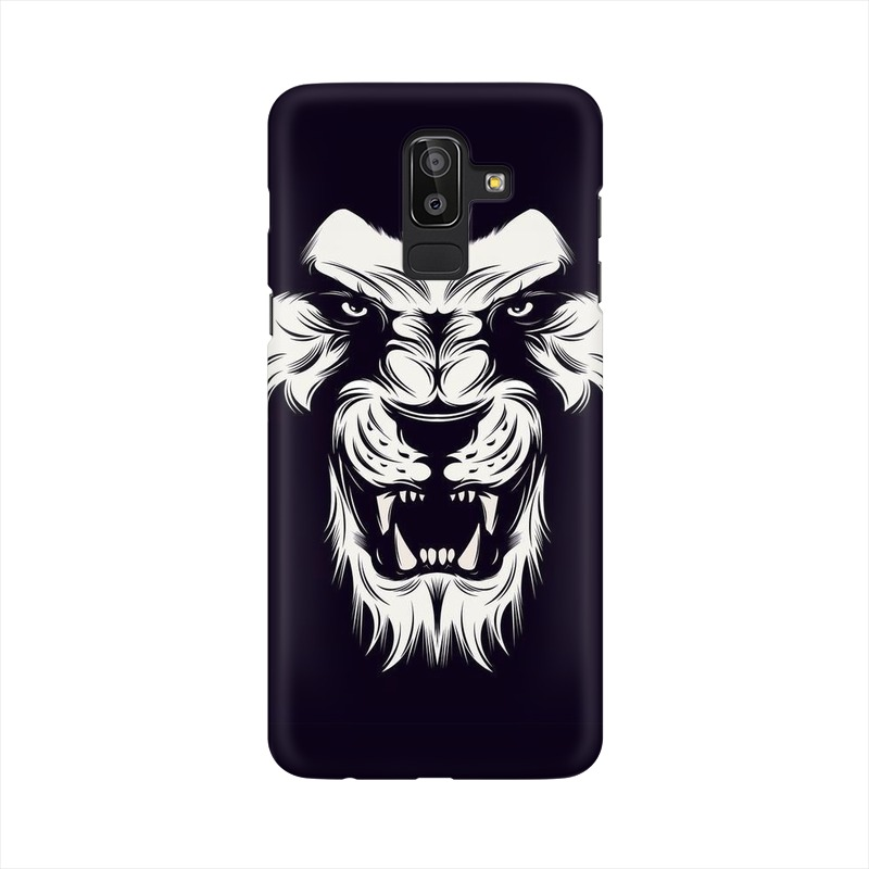 Angry Wolf Samsung Galaxy J8 Mobile Cover Case