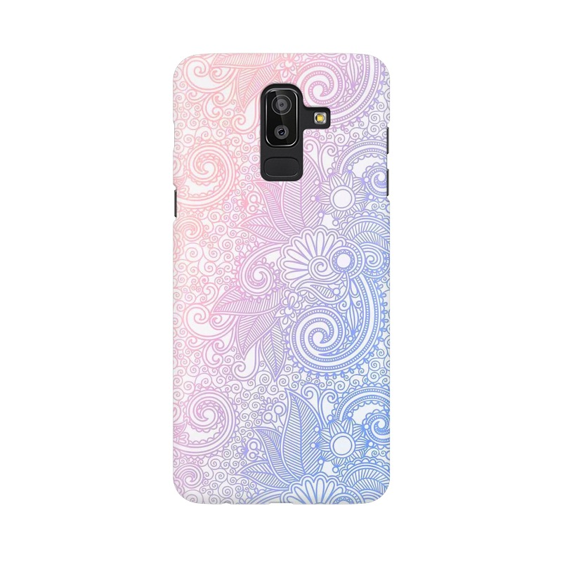 Beautiful rangoli Samsung Galaxy J8 Mobile Cover Case