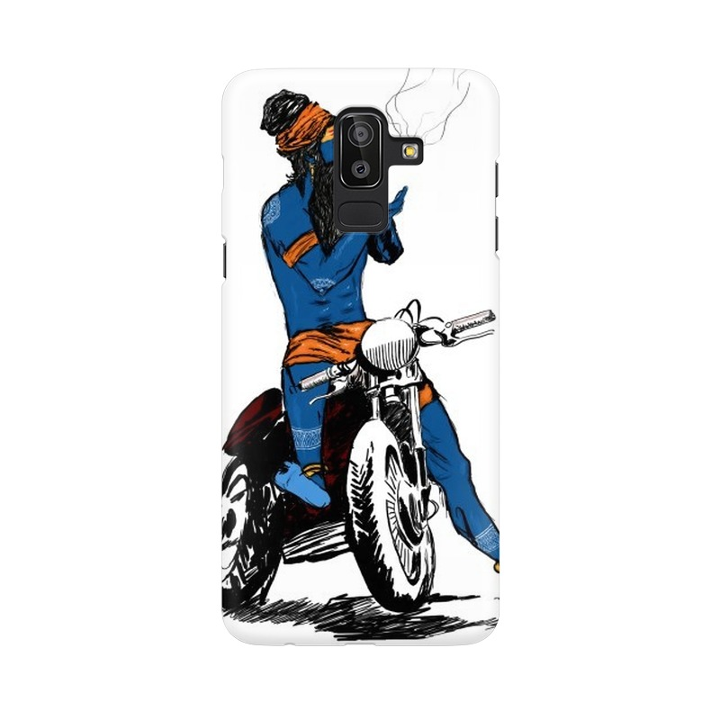 Biker Shiva Samsung Galaxy J8 Mobile Cover Case