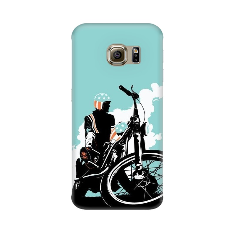 American Biker Samsung Galaxy S6 Edge Mobile Cover Case