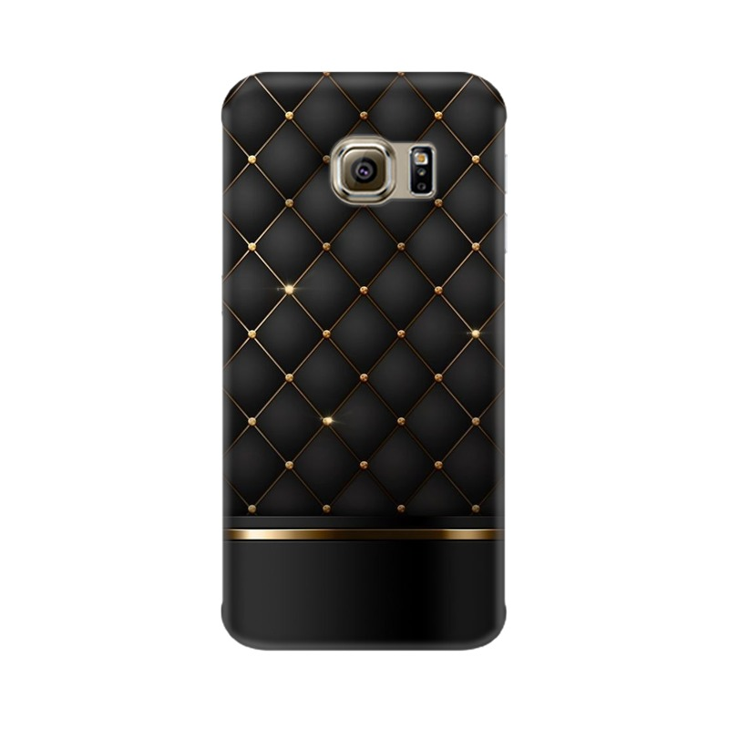 Black Gold Shine Texture Samsung Galaxy S6 Edge Mobile Cover Case