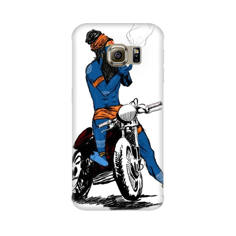 Biker Shiva Samsung Galaxy S6 Edge Mobile Cover Case