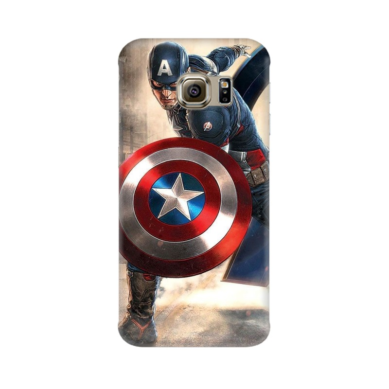 Captain America Fighting Samsung Galaxy S6 Edge Mobile Cover Case