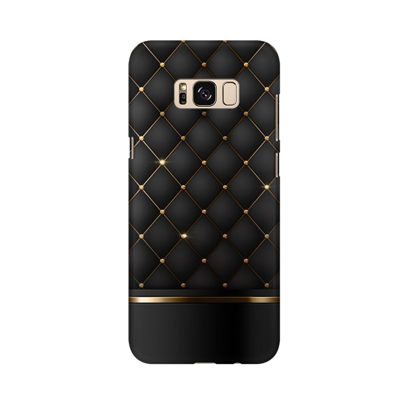 Black Gold Shine Texture Samsung Galaxy S8 Plus Mobile Cover Case