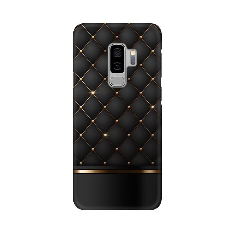 Black Gold Shine Texture Samsung Galaxy S9 Plus Mobile Cover Case