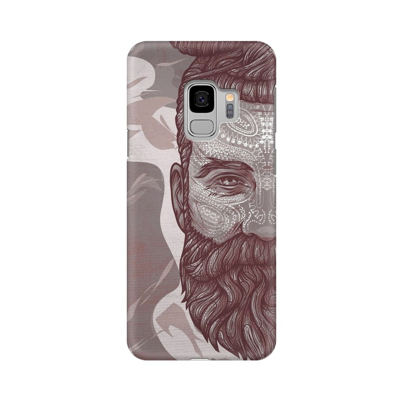 Beardo Man Samsung Galaxy S9 Mobile Cover Case