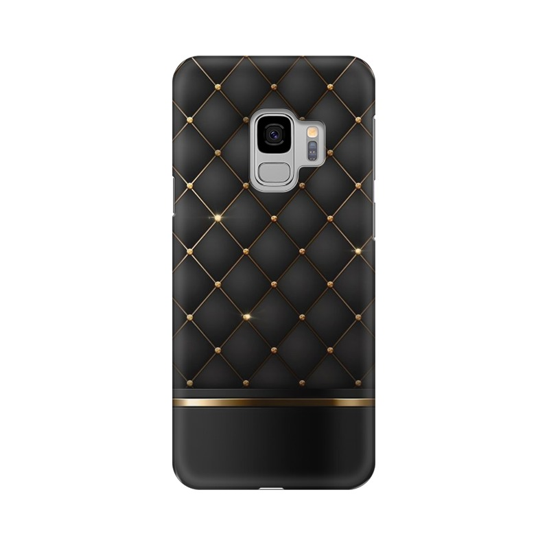 Black Gold Shine Texture Samsung Galaxy S9 Mobile Cover Case