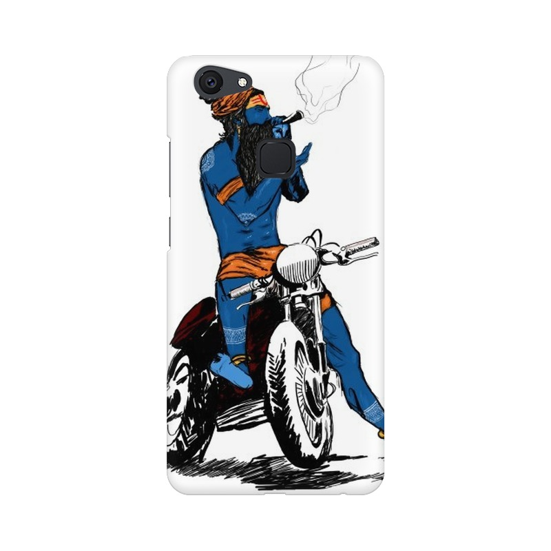Biker Shiva Vivo V7 Mobile Cover Case