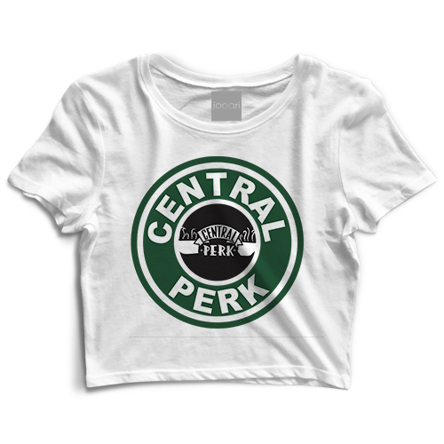 Central Perk White Crop Top