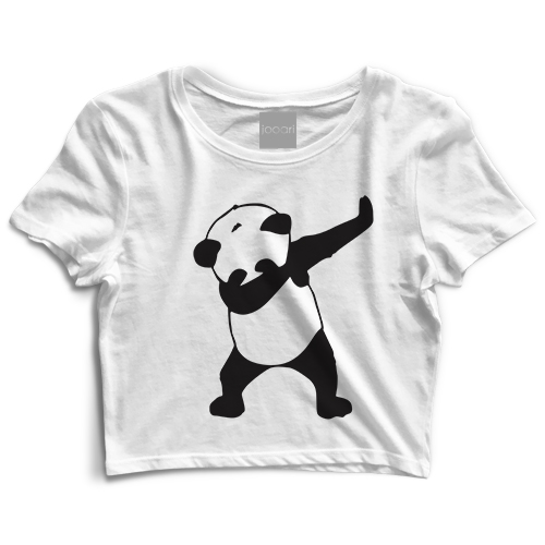 Panda White Crop Top