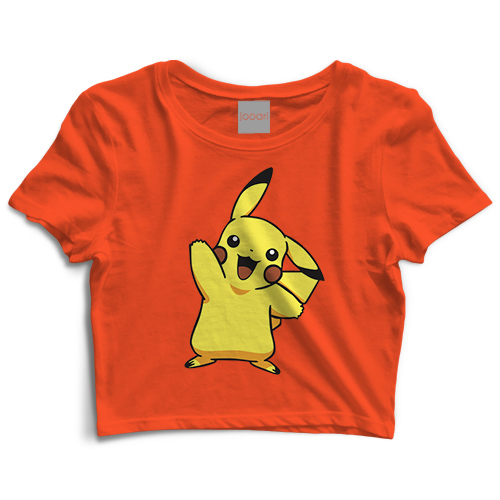 Pikachu Orange Crop Top