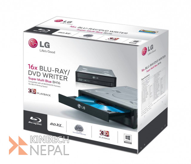 LG 16x Internal Blu-ray Disc ReWriter Drive | www.kinbechnepal.com