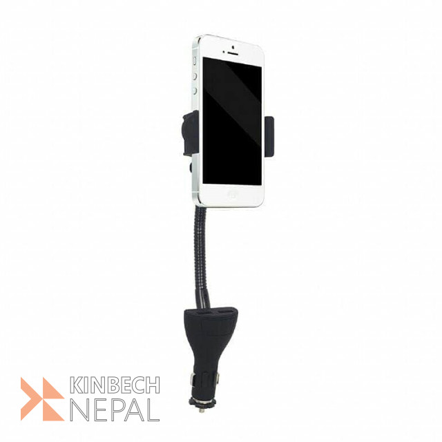 Car Smartphone Holder with Charger | www.kinbechnepal.com