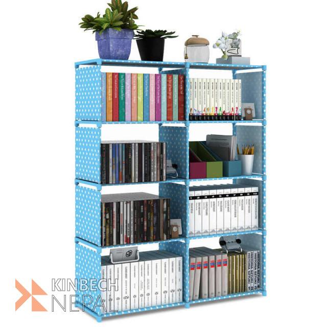 Book Rack for Home Book Shelf 4 x 2 Layers for Books, Toys Etc. 125 x 80 x 30 cm | www.kinbechnepal.com