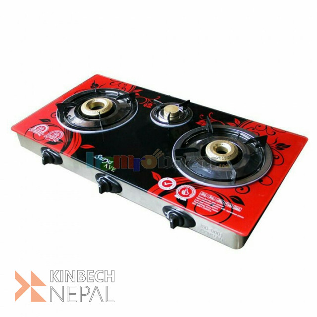 3 Burner Automatic Gas Stove At Low Cost   www.kinbechnepal.com