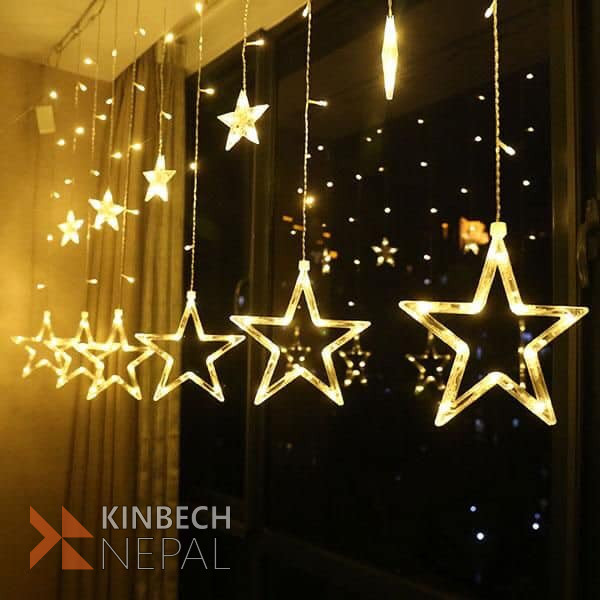 Star lights With 12 star ornaments | www.kinbechnepal.com