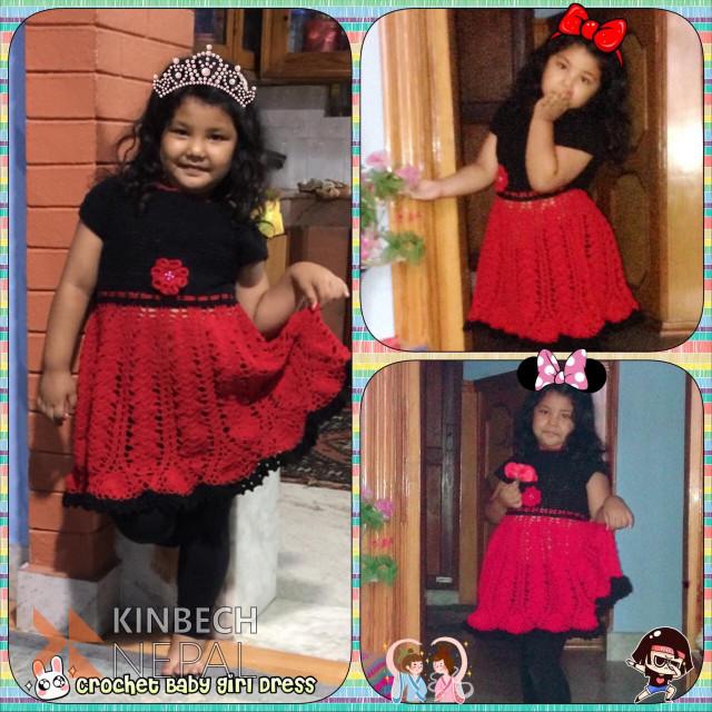 Crochet Baby Dress | www.kinbechnepal.com