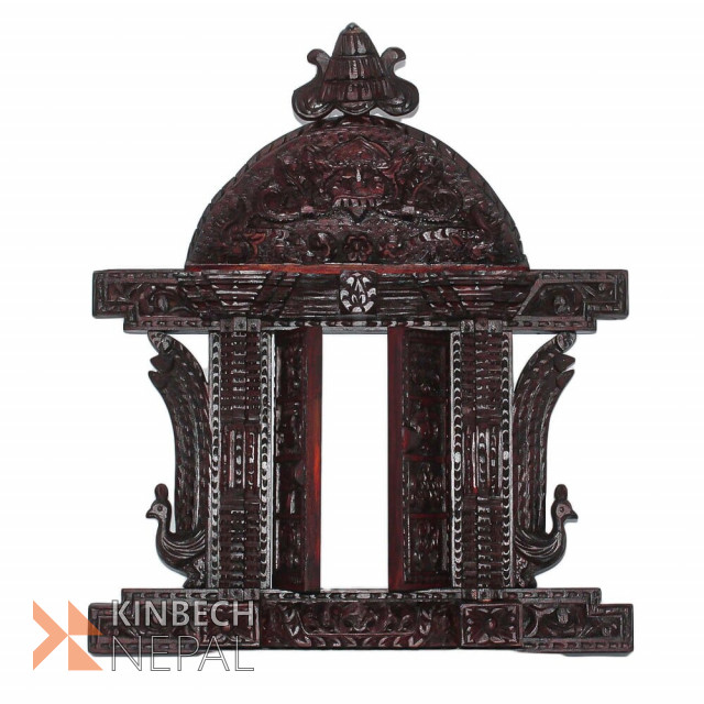 Wooden Carving Asta Mangal Wooden Door Rosewood Finish | www.kinbechnepal.com