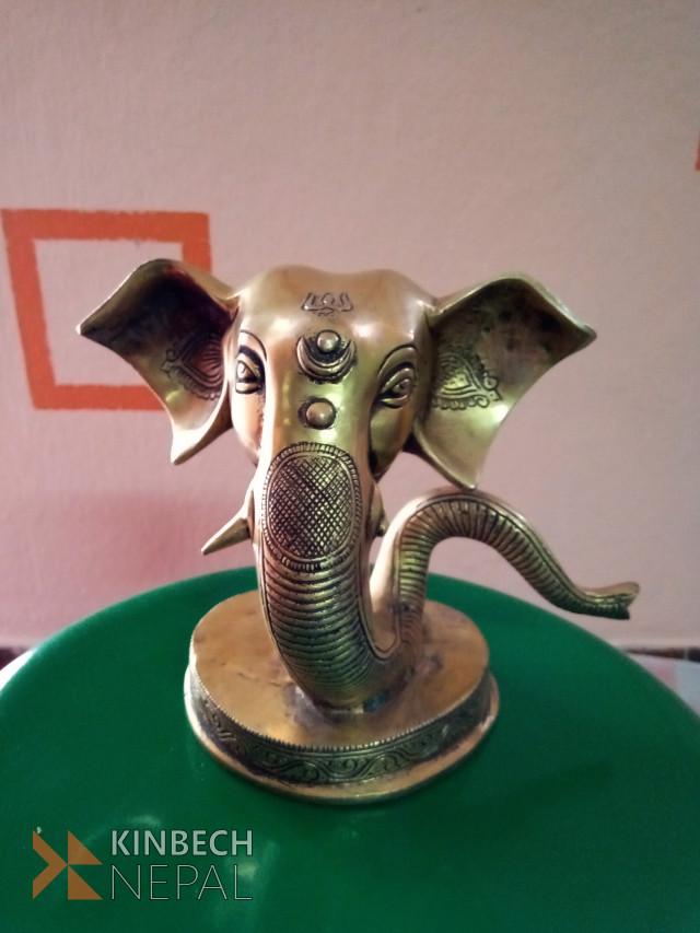 One Tusk Ganesh Head Show Piece | www.kinbechnepal.com