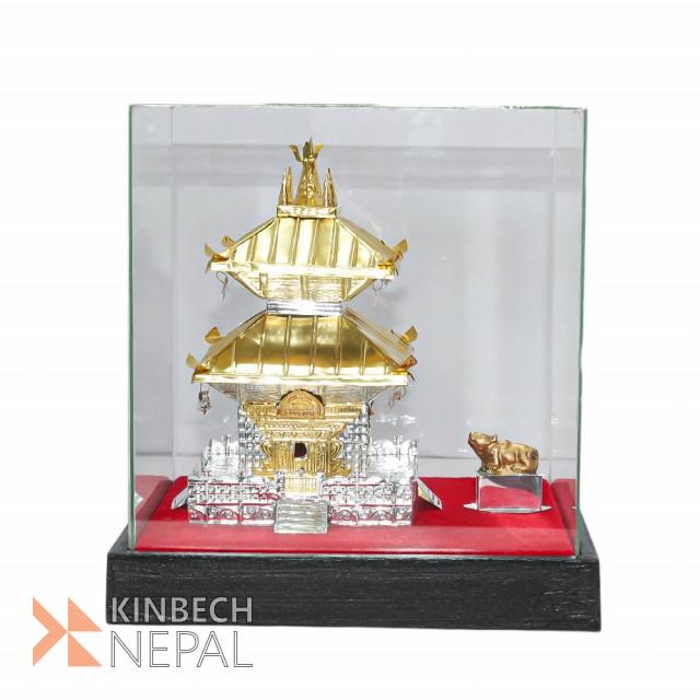Golden/Silver Color Metal Pashupati Temple Statue No.3 | www.kinbechnepal.com