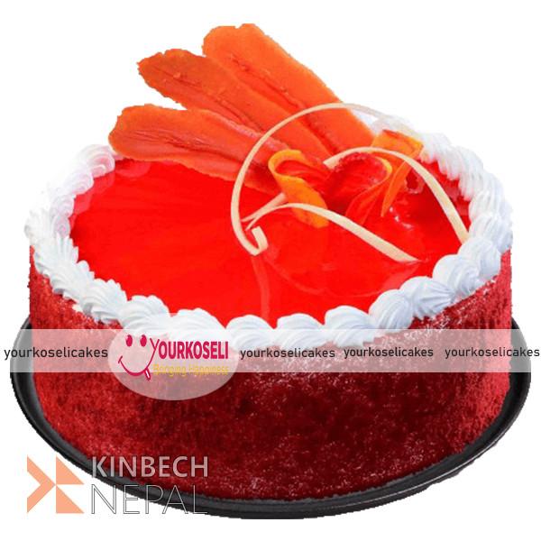 Red Velvet Cake in Nepal | YourKoseli Cakes | www.kinbechnepal.com