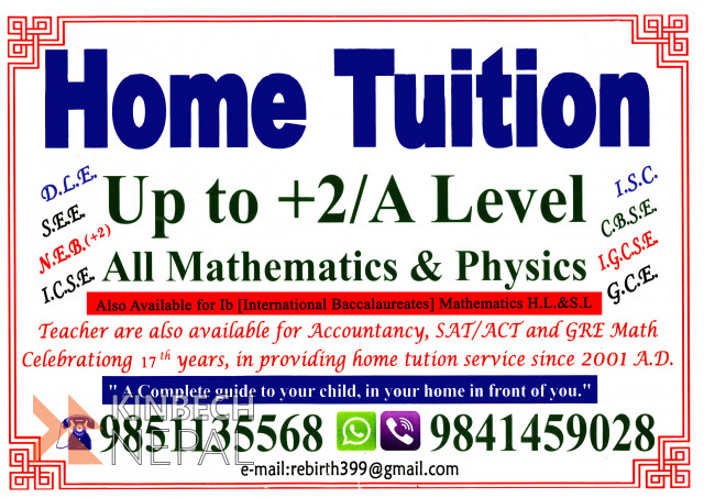 Home Tuition In Kathmandu Valley | www.kinbechnepal.com