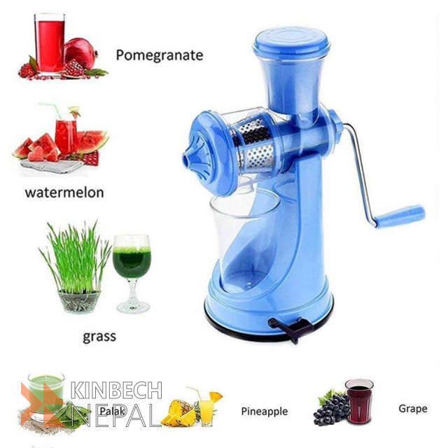 Fruit And Vegetable Hand Juicer (Color May Vary) | www.kinbechnepal.com