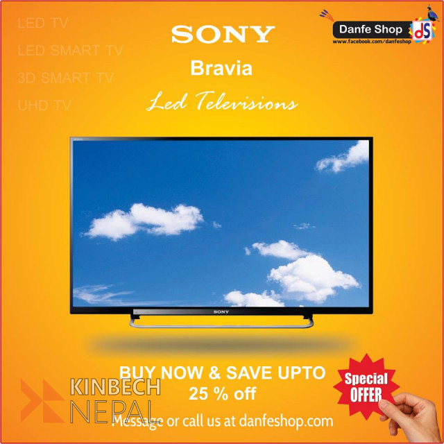 SONY Bravia LED Televisions For Sale | www.kinbechnepal.com