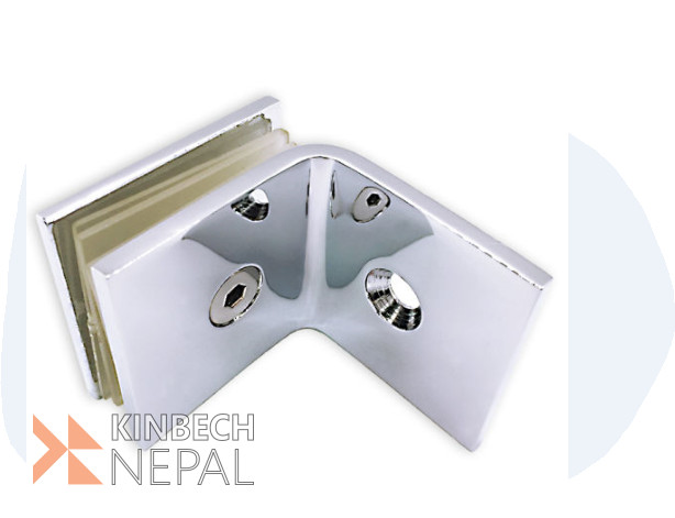 L Connector 4mm For Toughened Glass By RV Plus | www.kinbechnepal.com