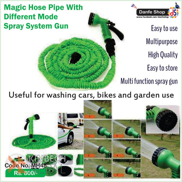 Magic Hose Pipe With Different Mode Spray System Gun | www.kinbechnepal.com