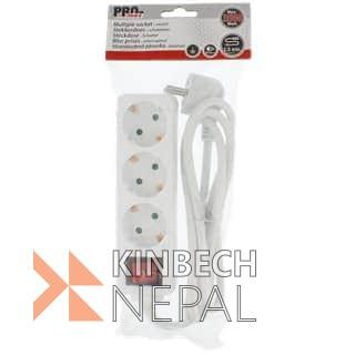 3-Fold Power Strip | www.kinbechnepal.com