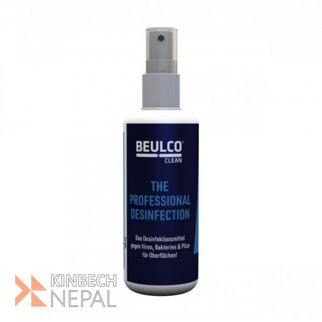 Beulco Disinfectant Spray EFFECTIVE SURFACE DISINFECTION PROTECTS AGAINST VIRUSES, BACTERIA, AND FUNGI | www.kinbechnepal.com