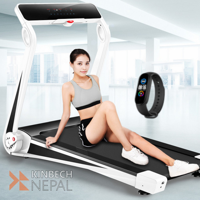 Smart Treadmill With Phone App Control New Design 2021 5 years Warranty | www.kinbechnepal.com