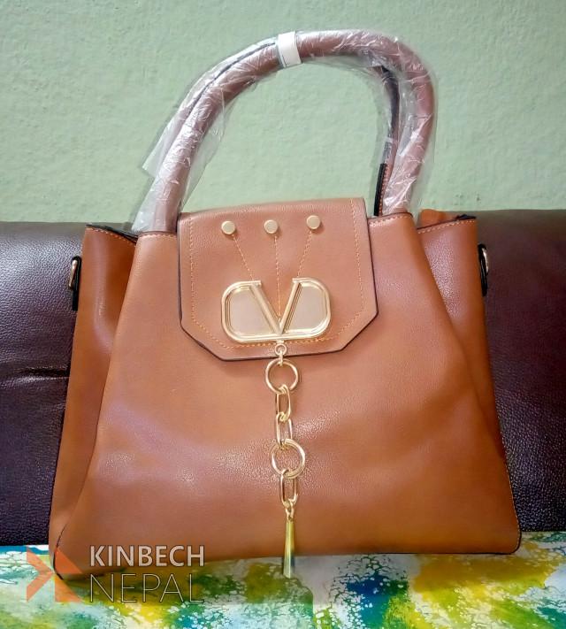 Brown Ladies Bag | www.kinbechnepal.com