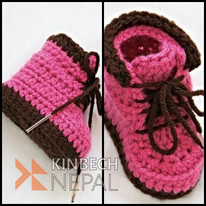 Crochet Baby Timberland | www.kinbechnepal.com