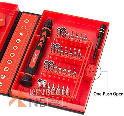 Screwdriver Set Repair Tool Fixing Kit iPhone Laptop Smartphone MacBook Xbox Watches Glasses with Case | www.kinbechnepal.com