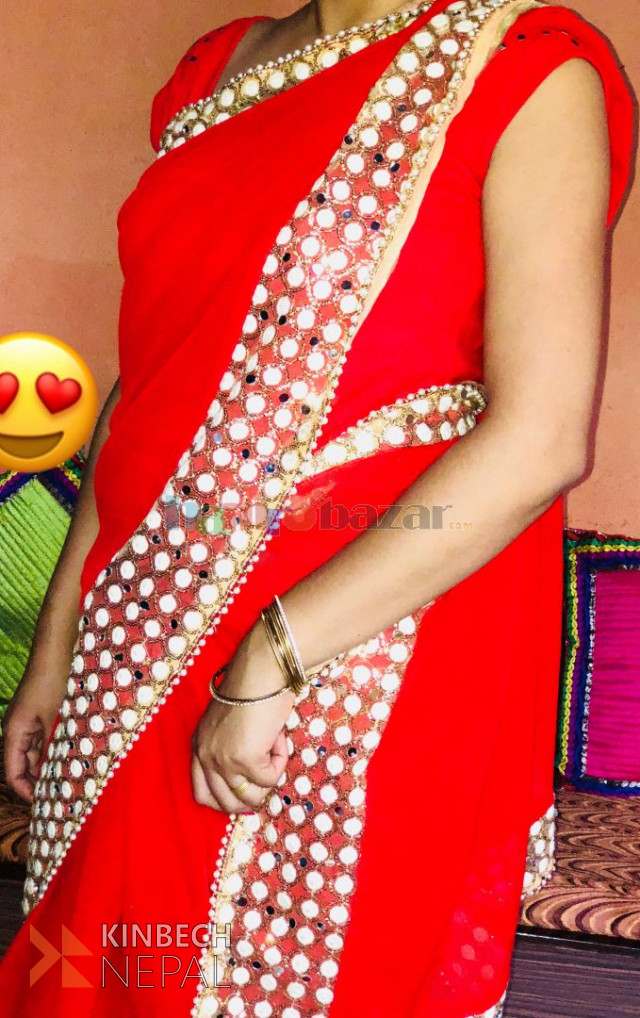 Red Saree | www.kinbechnepal.com