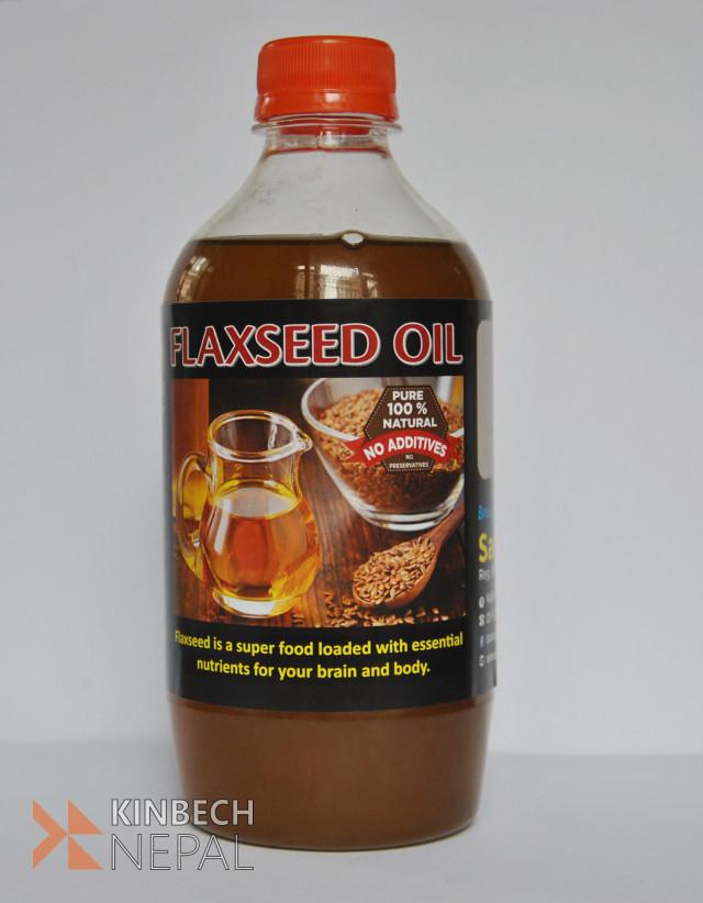 Flax seed oil   www.kinbechnepal.com