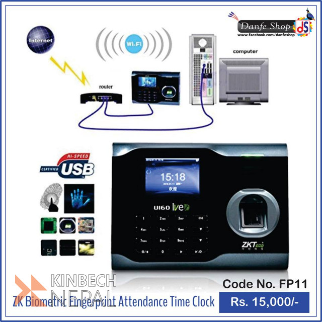 ZK Biometric Fingerprint Attendance Time Clock | www.kinbechnepal.com