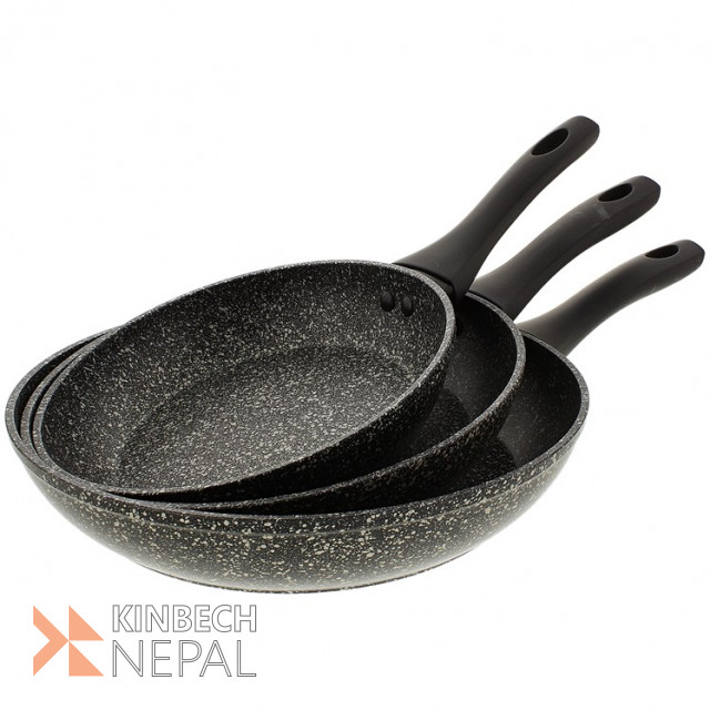 Pan 3 sets marble coated SOLD OUT PreOrder   www.kinbechnepal.com