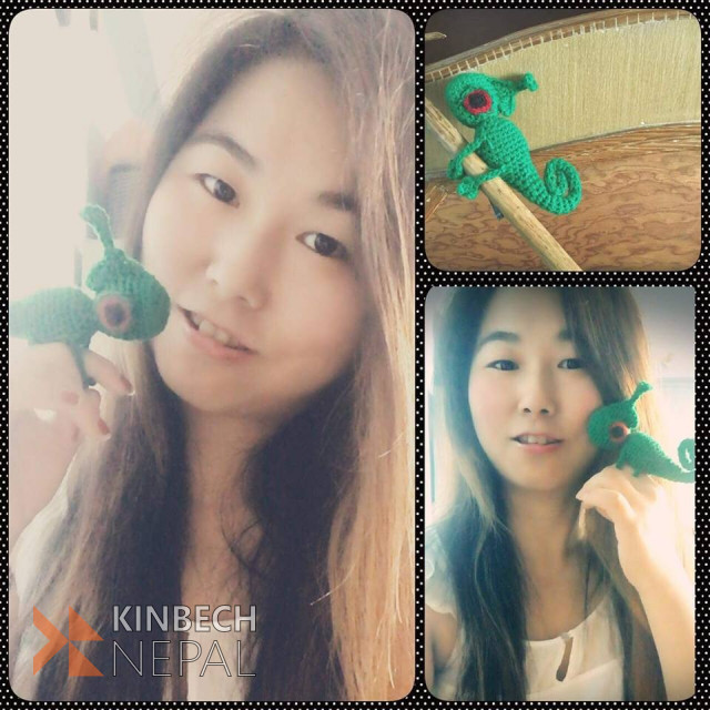 Crochet Chameleon Keychain | www.kinbechnepal.com